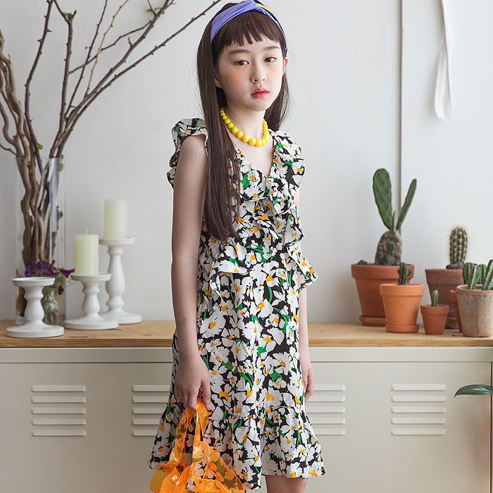 [BERRY BERRY] Percy Floral Dress - BLACK