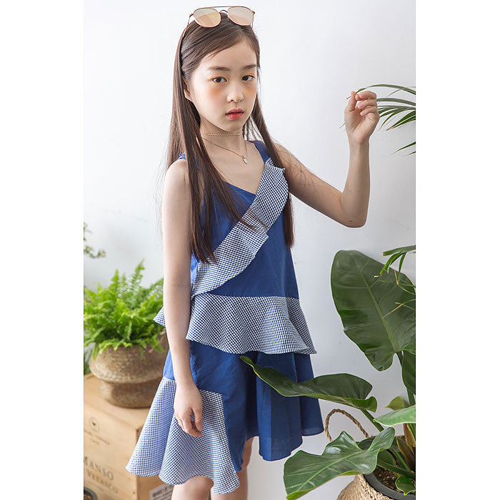 [BERRY BERRY] Gemini Ruffle Dress - BLUE