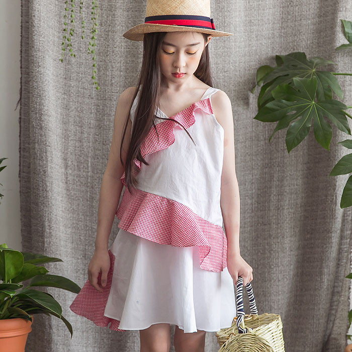 [BERRY BERRY] Gemini Ruffle Dress - WHITE