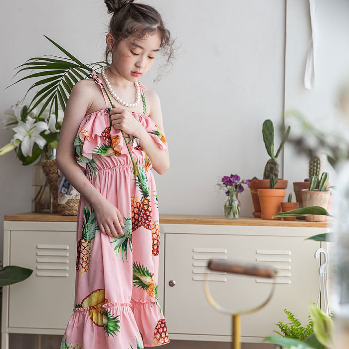 [BERRY BERRY] Kalani Pineapple Dress - PINK