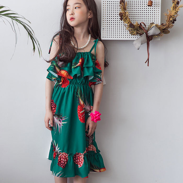 [BERRY BERRY] Kalani Pineapple Dress - GREEN