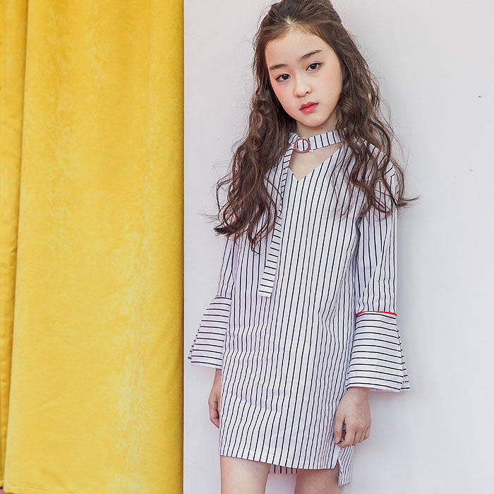 [BERRY BERRY] Ode Stripe Dress - WHITE