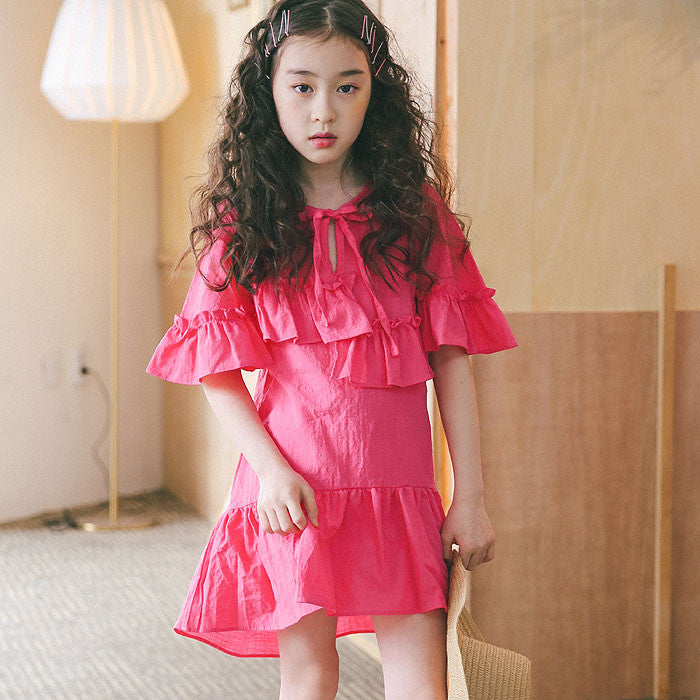 [BERRY BERRY] Eissa Ruffle Dress - PINK