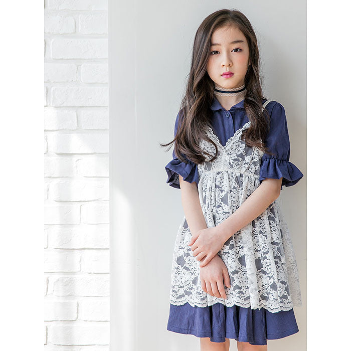 [BERRY BERRY] Hayes Lace Dress - NAVY