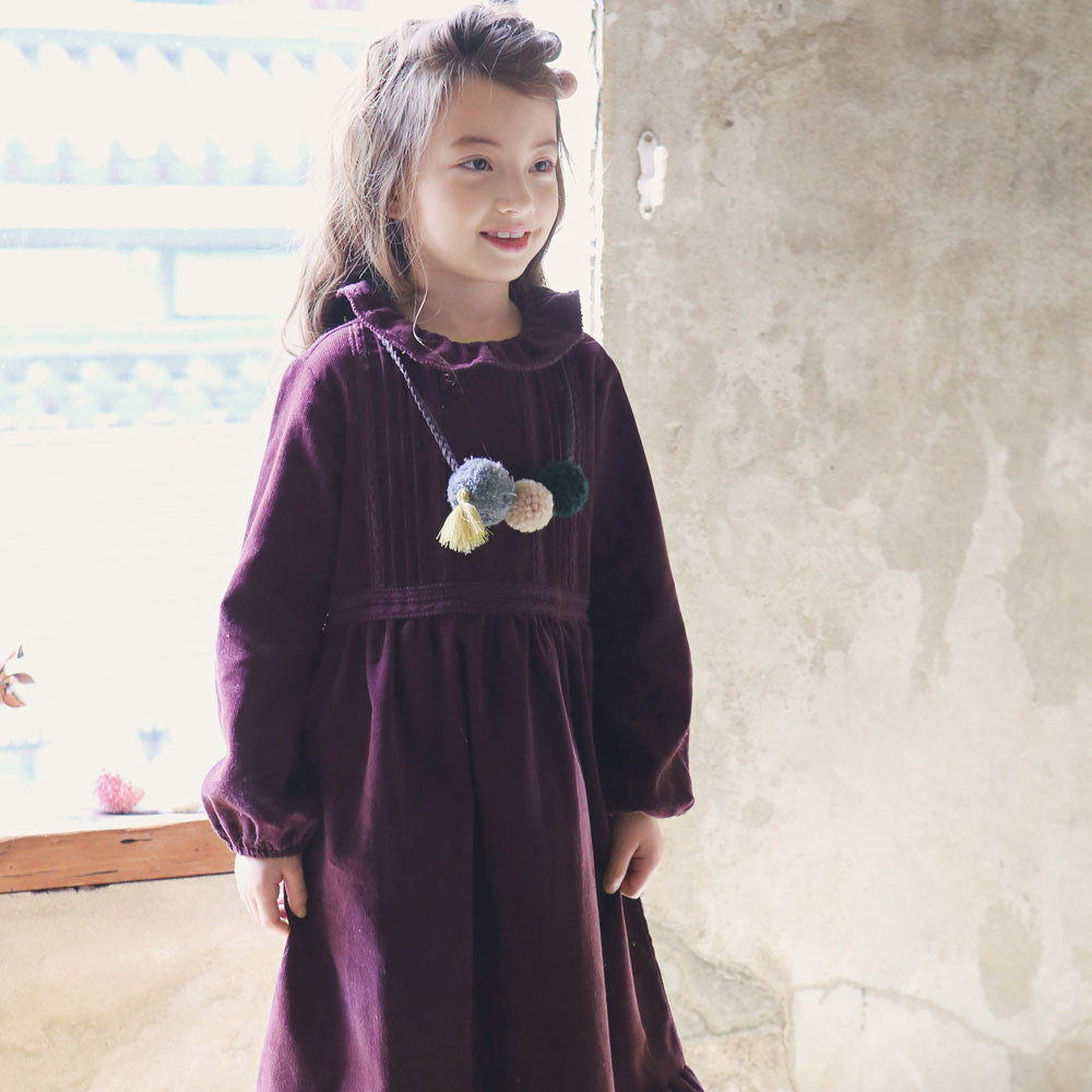 Della Corduroy Maxi Dress for little girls