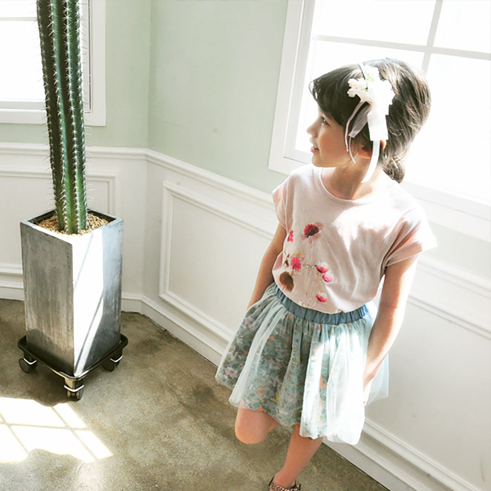 Brielle Floral Tulle Skirt