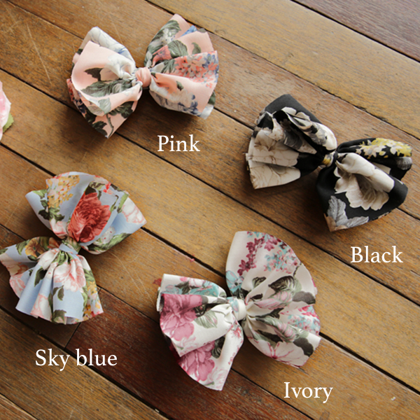 Polina Ribbon Hairclip[BLACK]