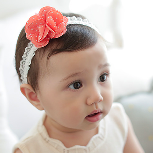 Dotted Flower Hairband