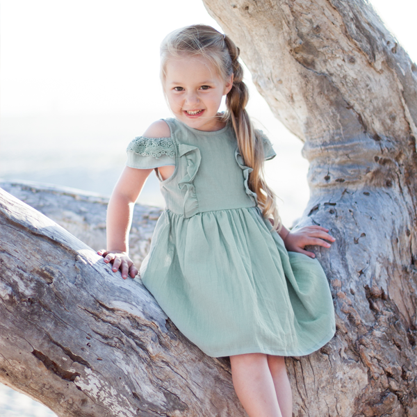 Mabel Lace Off-shoulder Dress [2-3 YEARS]