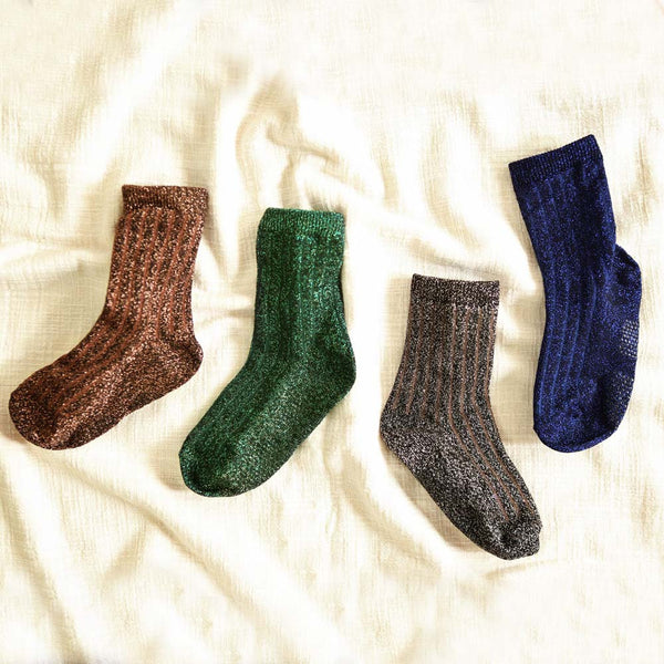 Merry Glitter 4-Pack Socks for little girls