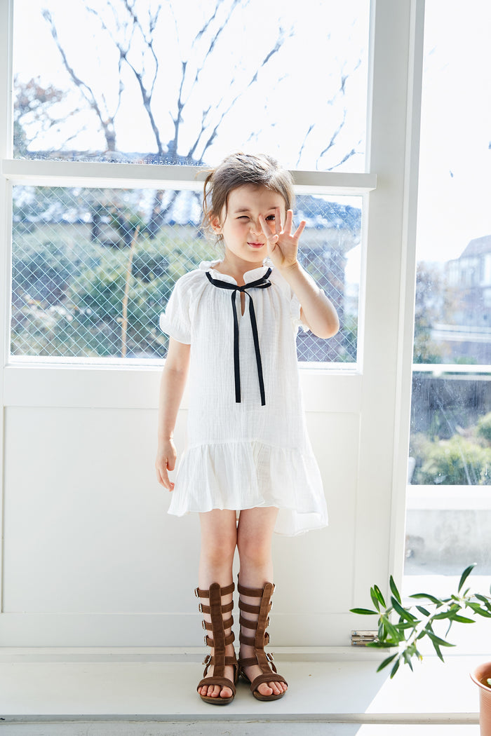 [MIMI BOUTIQUE] Sami Ribbon Dress - IVORY