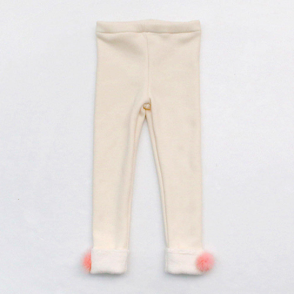 Amy Pom Pom Leggings for little girls
