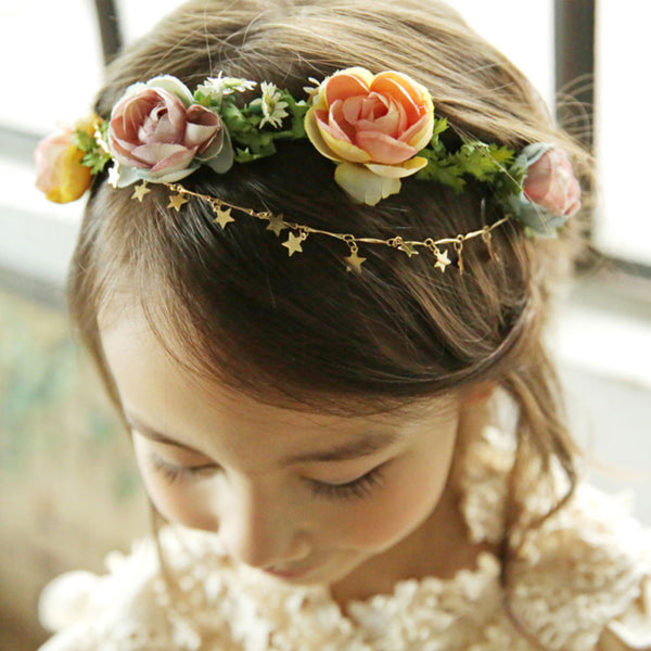 Anastasia Flower headband with star strap for girls