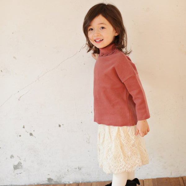 April Lace Skirted Leggings, little girls skirt leggings in cream