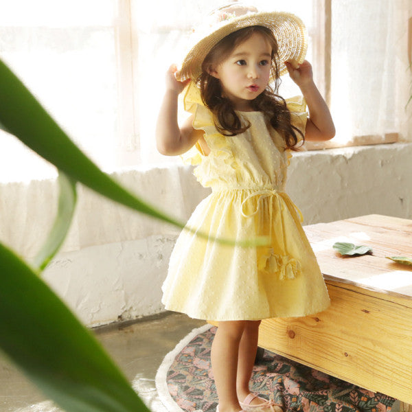 Belle Ruffle Dress [YELLOW / 6-7 YRS]