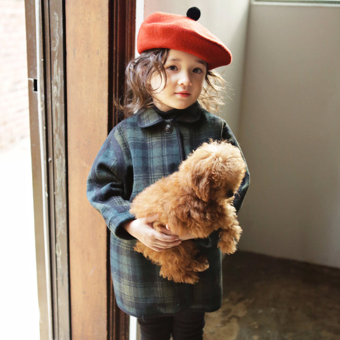 Brooklyn Wool Plaid Coat for little girls