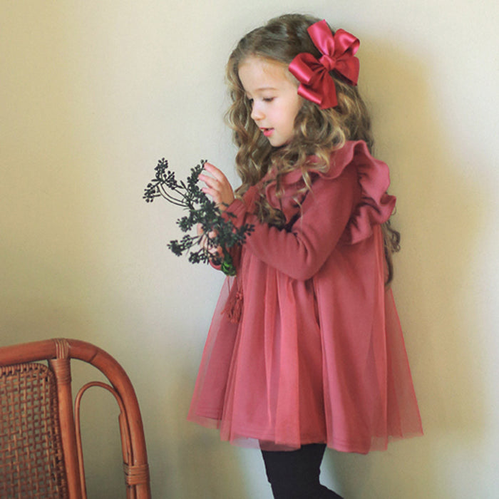 Carol Ruffle Dress [PINK / 3-4 YRS]