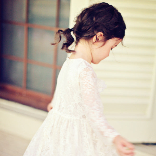 Cassidy Lace Dress, little girls lace dress in cream