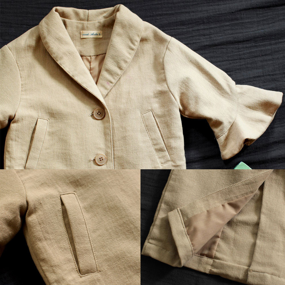 Chelsea Cotton Jacket for little girls, fall jacket in beige
