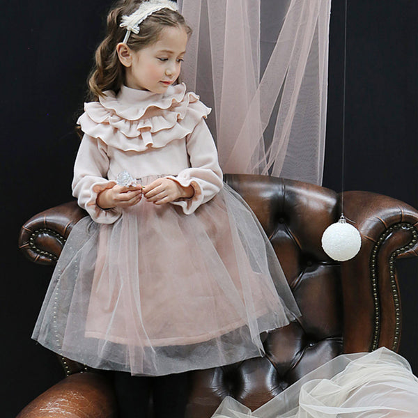 Crystal Ruffle Dress for little girls