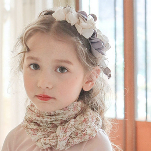 Dallas Floral Hairband for little girls, hair piece with flowers