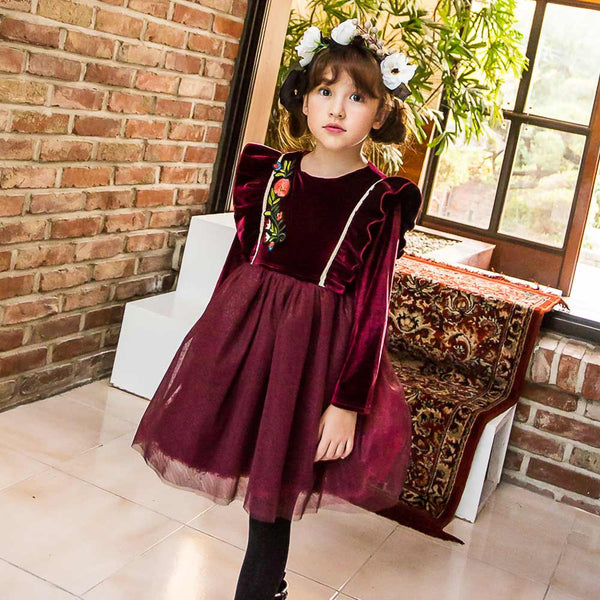 Drew Velvet Dress for little girls
