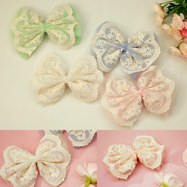 Eleanor Ribbon Hair Clip [GREEN]