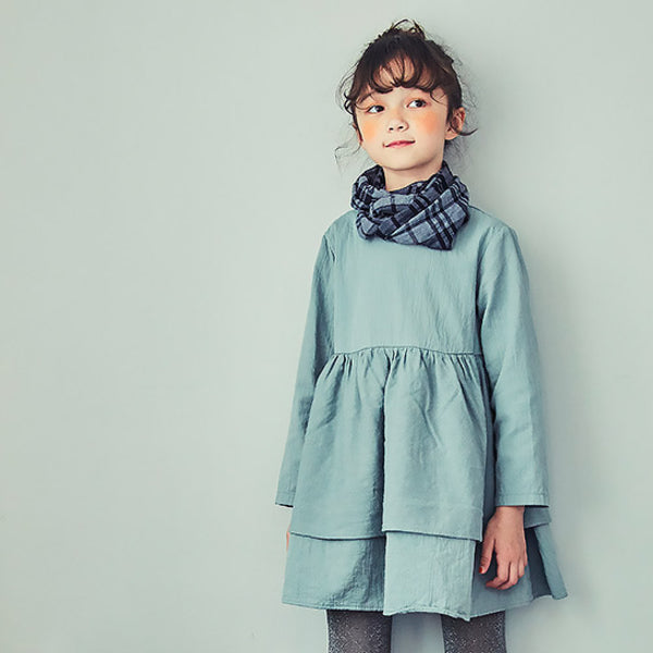 Edie Cotton Ruffle Dress for little girls