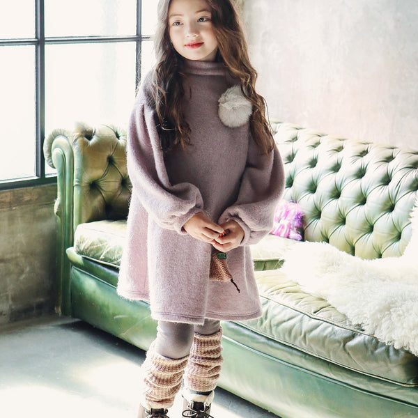 Emery Knitted Leggings for little girls