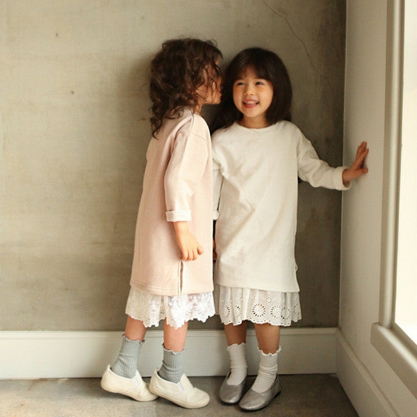 Fabian Cotton Dress, little girl cotton long sleeve dress