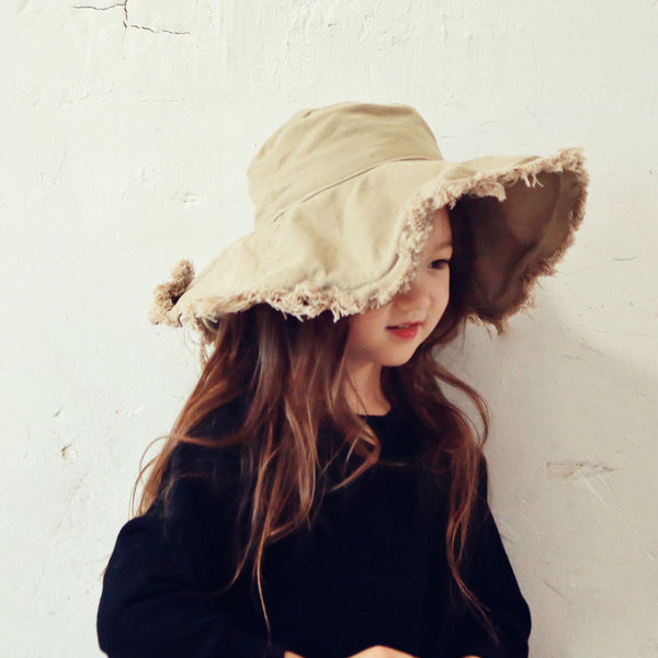 Foret Floppy Hat for girls in mustard, pretty hat for girls