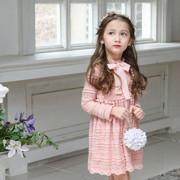 [FLO] Ira Lace Dress - PINK