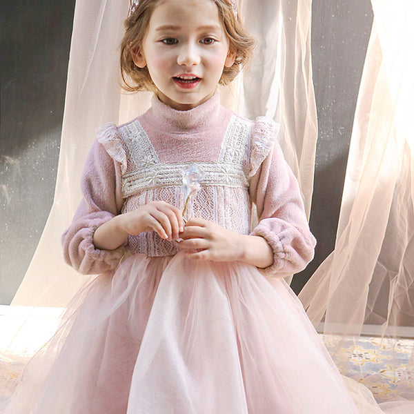 Isla Fleece winter Dress for little girls