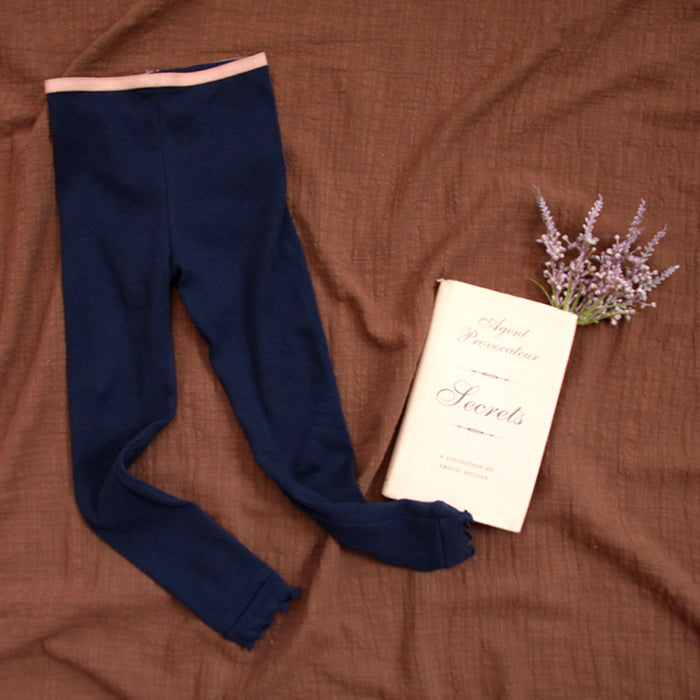 Julie leggings in pink, deep brown, navy, and black.