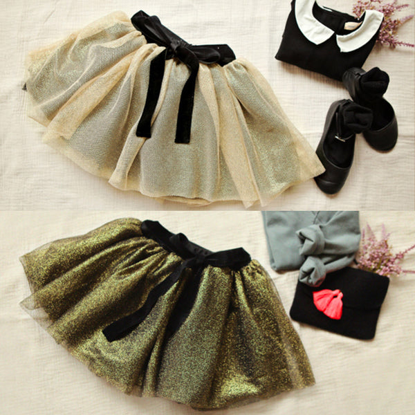 Kara Metallic Tulle Skirt
