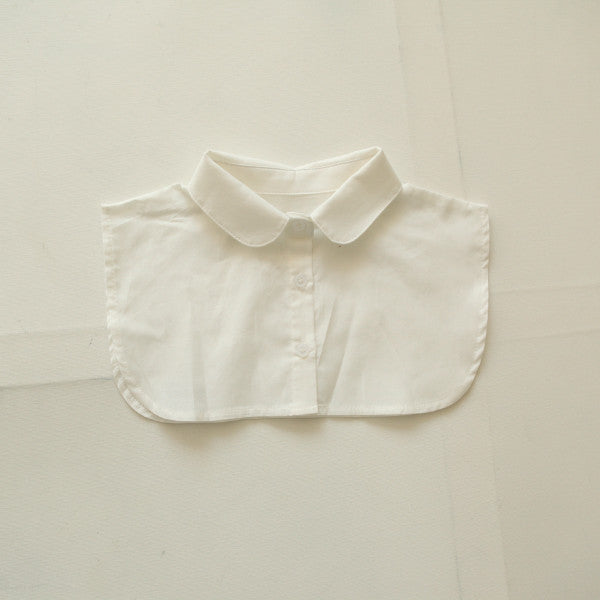 Kelsey Fake Collar, little girls fake collar accessory in white
