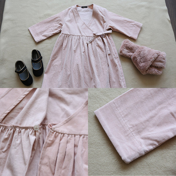 Liv Corduroy Wrap Dress for little girls