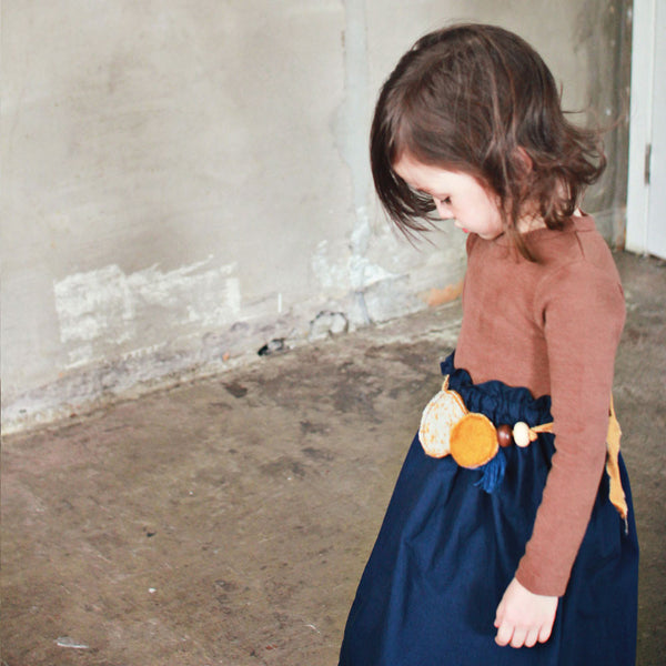 Luella Ruffle dress for little girls in brown