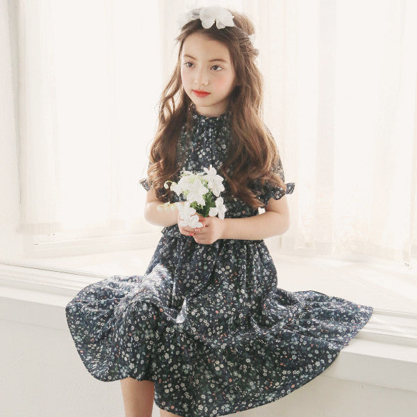 Lynne Floral Dress [NAVY / 4-5 YRS]