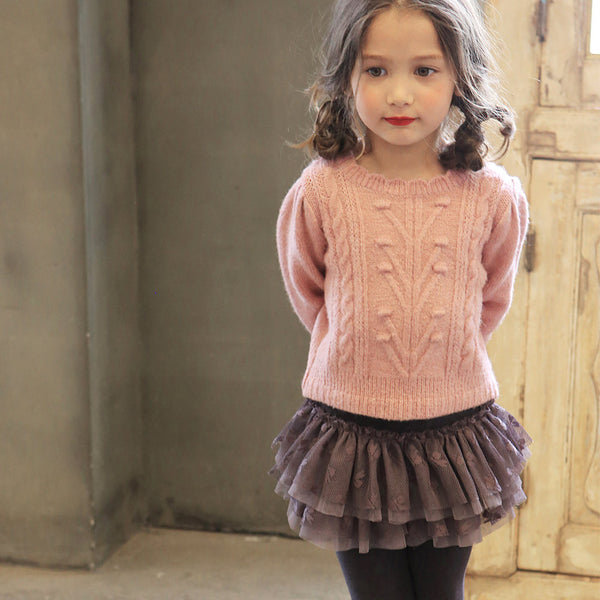 Mandy Tulle Skirted Leggings for little girls