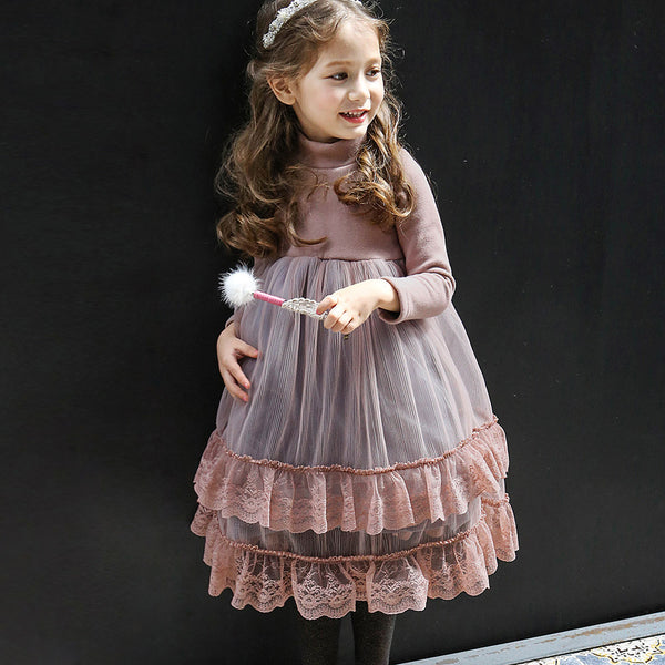 Margaret Lace Tulle Dress for little girls