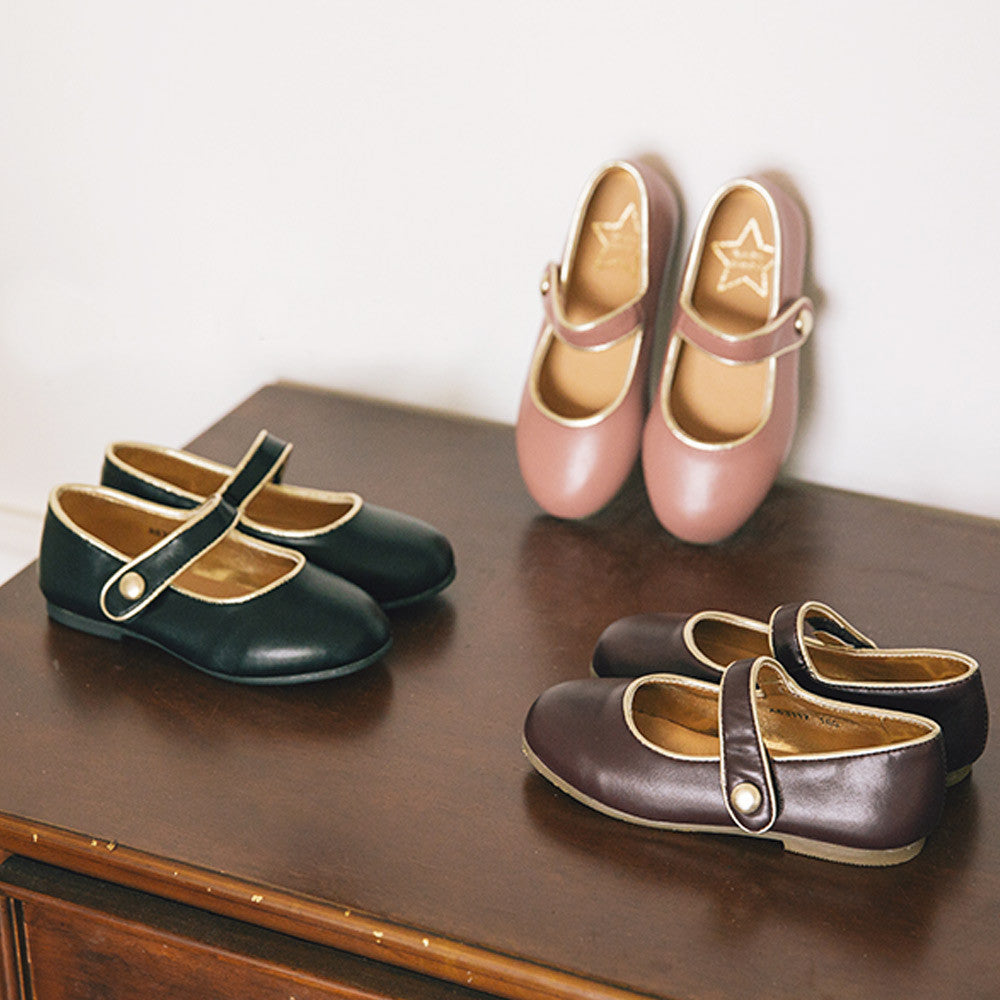 Mary Jane Gold Flats, little girls shoes
