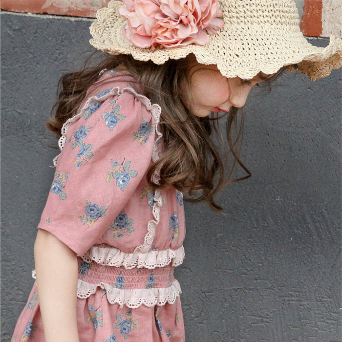 [FLO] Merrit Floral Dress - PINK