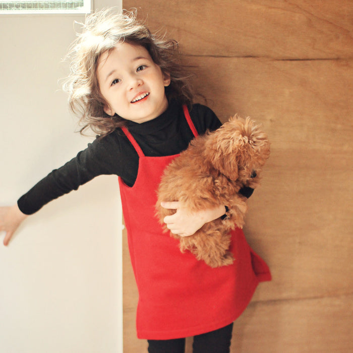 Patsy Sleeveless Wool Dress for little girls