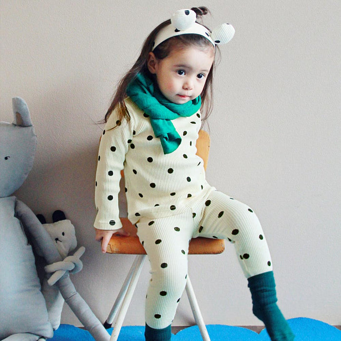 Polka Dot Loungewear Set [IVORY / 2-3 YRS]