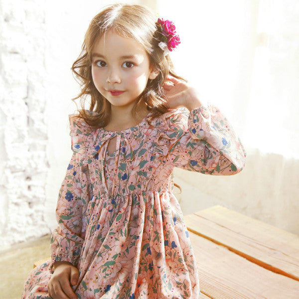 Raphael Floral Dress [LIGHT PINK / 5-6 YRS]