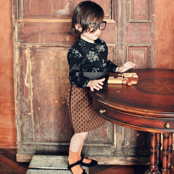 Reena Classic dress for little girls in brown