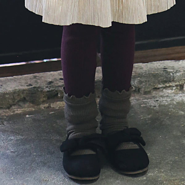 Rocco Ribbed Ruffle Leggings for little girls