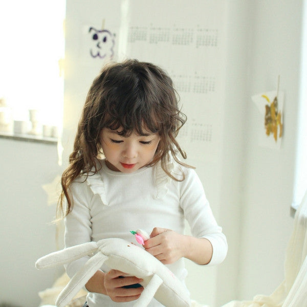 Roemo Ruffle Top, little girl ruffle top in ivory