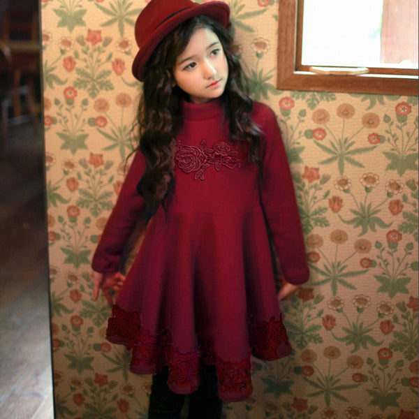 Rose Lace Dress for little girls